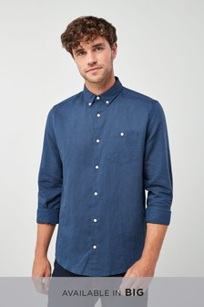 Long Sleeve Cotton Linen Shirt