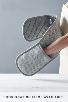 Grey Geo Double Oven Glove