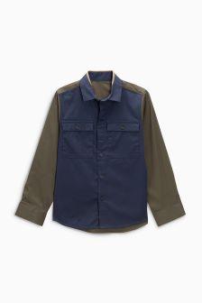 Long Sleeve Stretch Colourblock Shirt (3-16yrs)
