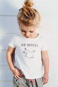 Slogan Short Sleeve T-Shirt (3mths-6yrs)