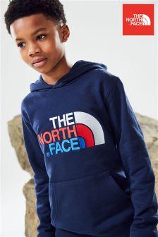 Granatowa bluza z kapturem zakładana przez głowę The North Face® Youth Drew Peak