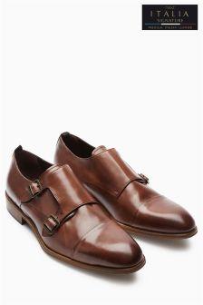 Коллекционные туфли с отрезным мыском и пряжками