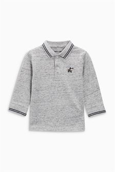 Long Sleeve Textured Polo (3mths-6yrs)