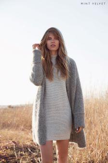 Mint Velvet Grey Longline Tunic Knit