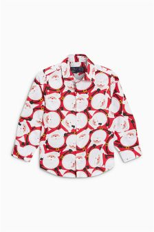 Santa Print Shirt (3mths-6yrs)