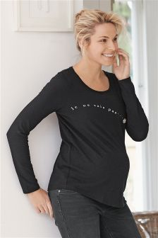 Maternity Jersey Long Sleeve Top