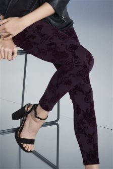 Flock Detail Leggings