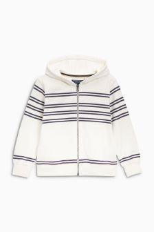 Stripe Zip Through Hoody (3-16yrs)