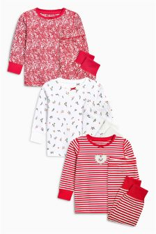 Heart Snuggle Pyjamas Three Pack (9mths-8yrs)