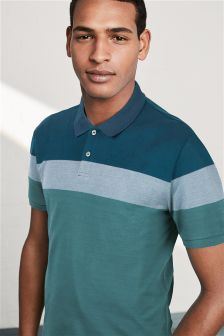 Block Stripe Poloshirt