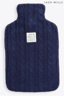 Jack Wills Cable Knit Hot Water Bottle