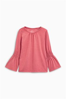 Elasticated Sleeve Long Sleeve Top (3-16yrs)