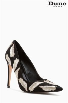 Dune Black Baudo Feather Emb Pointed Court