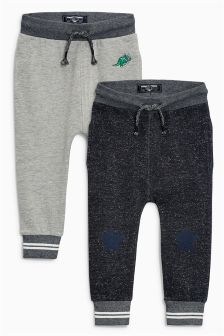 Skinny Textured Joggers Two Pack (3mths-6yrs)