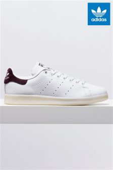 adidas Originals White/Burgundy Stan Smith