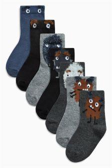 Monster Socks Seven Pack (Younger Boys)