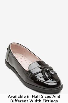 Легкие кожаные туфли с кисточками (Девушки)