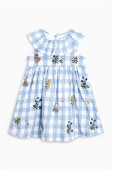 Gingham Embroidered Dress (3mths-6yrs)
