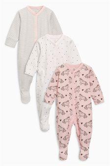 Pyjama-Sets mit Einhornmotiv, Dreierpack (0 Monate bis 2 Jahre)