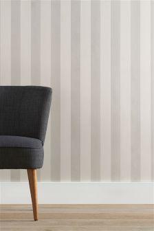 Paste The Wall Glitter Stripe Wallpaper