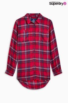 قميص أحمر مربعات من Superdry