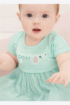 Jersey Woven Mix Dress (0mths-2yrs)