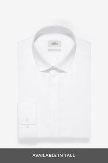 Фактурная рубашка с потайной планкой