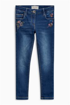 Embroidered Floral Jeans (3-16yrs)