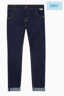 Granatowe spodnie dżinsowe Baker By Ted Baker