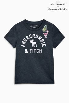 Abercrombie & Fitch Navy Patch Work Tee