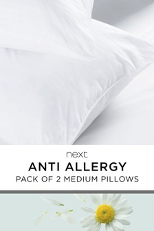 Set of 2 Medium Anti Allergy Pillows