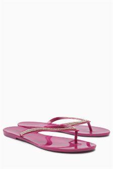 Beach Jelly Diamanté Sandals