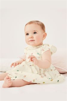 Printed Dress And Knickers (0-2mths)