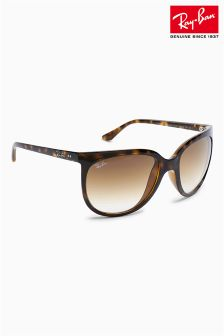 Ray-Ban® Tortoiseshell Oversized Jackie O Sunglasses