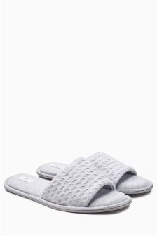 Textured Slider Slippers