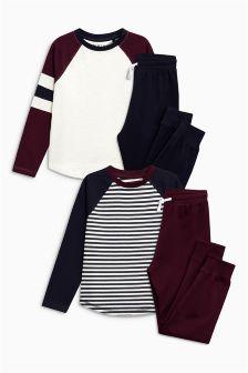 Stripe Pyjamas Two Pack (3-16yrs)