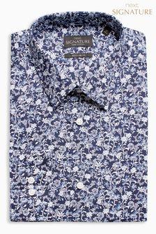 Kwiecista koszula o klasycznym kroju