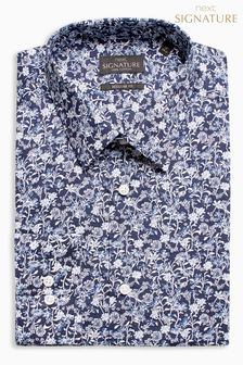 Signature Floral Print Regular Fit Shirt