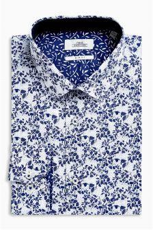Dopasowana koszula z kwiatowym nadrukiem