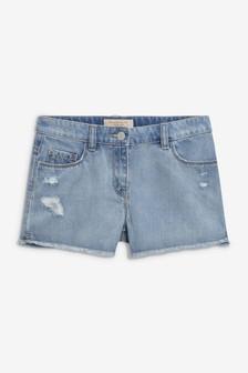 Denim Frayed Hem Shorts (3-16yrs)