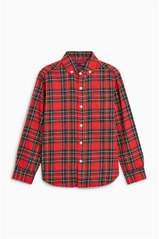 Boys Long Sleeve Tartan Shirt (3-16yrs)
