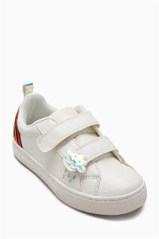 Velcro Rainbow Trainers (Younger Girls)
