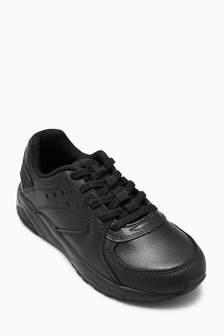 Leather Elastic Lace Trainers (Older Boys)