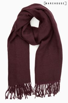 Warehouse Berry Reversible Scarf