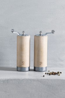 Wooden Salt And Pepper Grinders