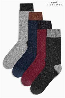 Набор цветных носков в крапинку (4 пары)