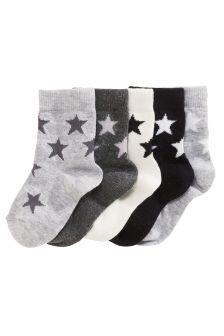 Stars Socks Five Pack (Younger Boys)