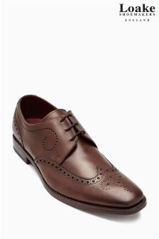 Loake Brown Kruger Wingcap Derby Brogue