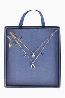 Stars Initial Necklace