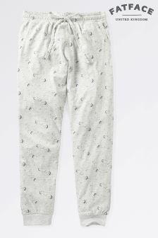 Fat Face Grey Marl Luna Sky Jersey Cuffed Pant
